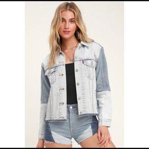 Levi's Ex-Boyfriend Colorblock Denim Jacket